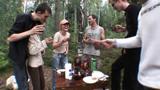 Секс с русскими телками на пикнике в лесу