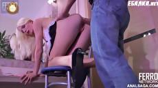 Хозяин принудил к сексу свою красивую русскую домохозяйку